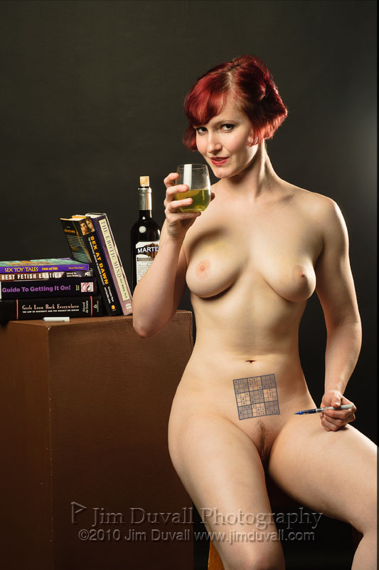 nude woman with sudoku tattoo