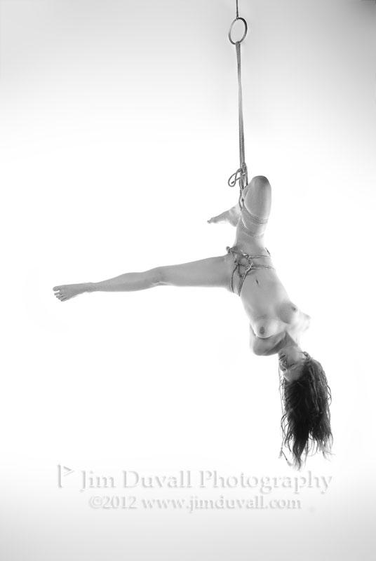 nude woman upside down model: jo