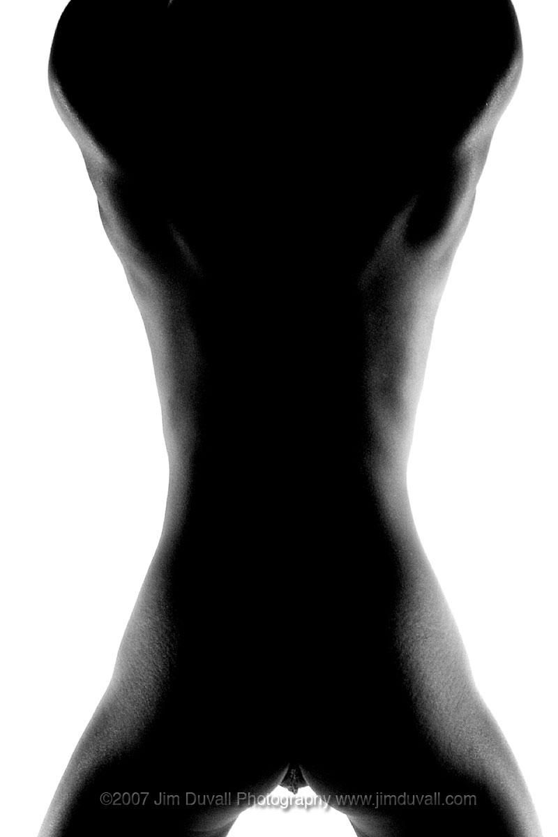 nude female silhouette form behind