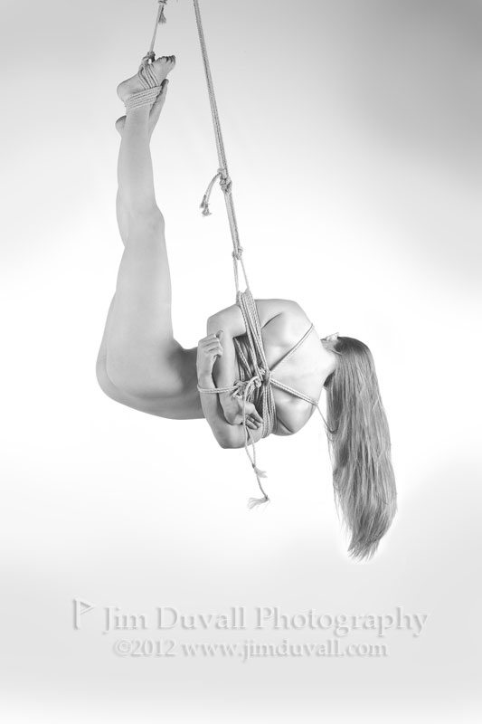 woman from behind bound and suspended model: nirvana