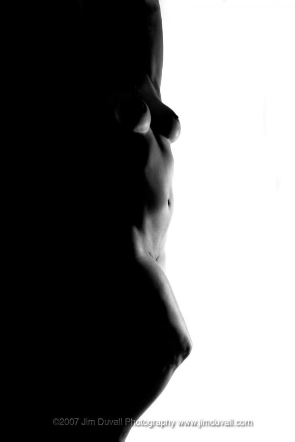 Nude female silhouette