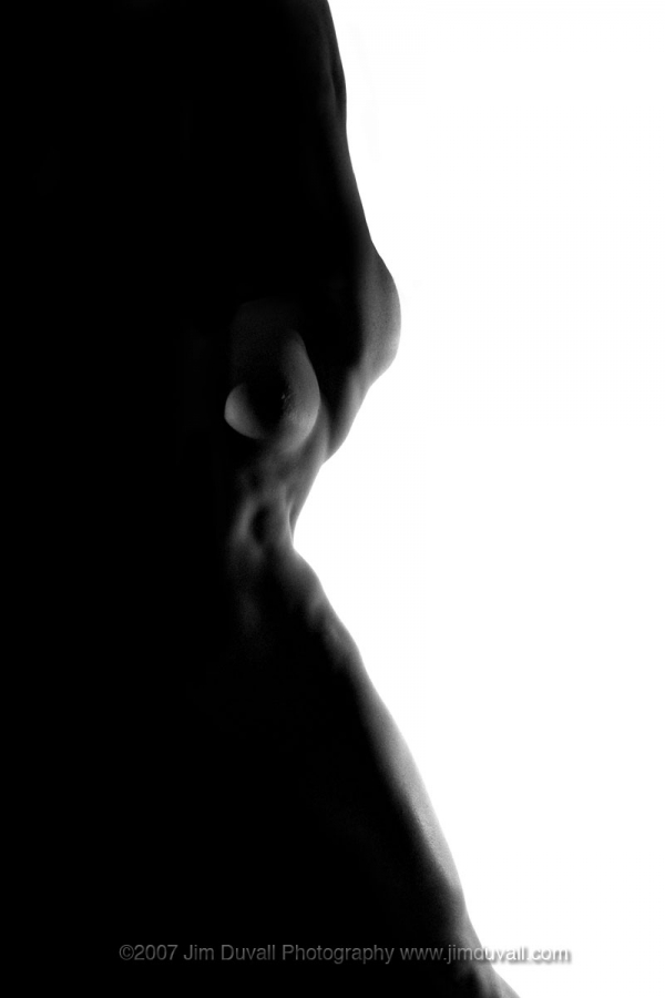 nude silhouette of teh side of a womans body