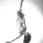 nude woman upside down model: Artemis Bare