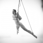 nude women in a box tie and suspended Model: Rose Riley